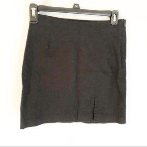 Guess jeans black side zip front slit skirt sz 26